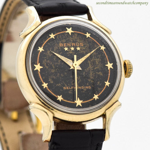 1950's Vintage Benrus 10k Yellow Gold Filled Watch