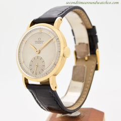 1946 Vintage Omega Chronometre 18k Yellow Gold Watch