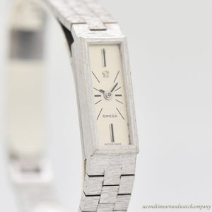 1960's Vintage Omega Ladies Reference 8065 18k White Gold Watch