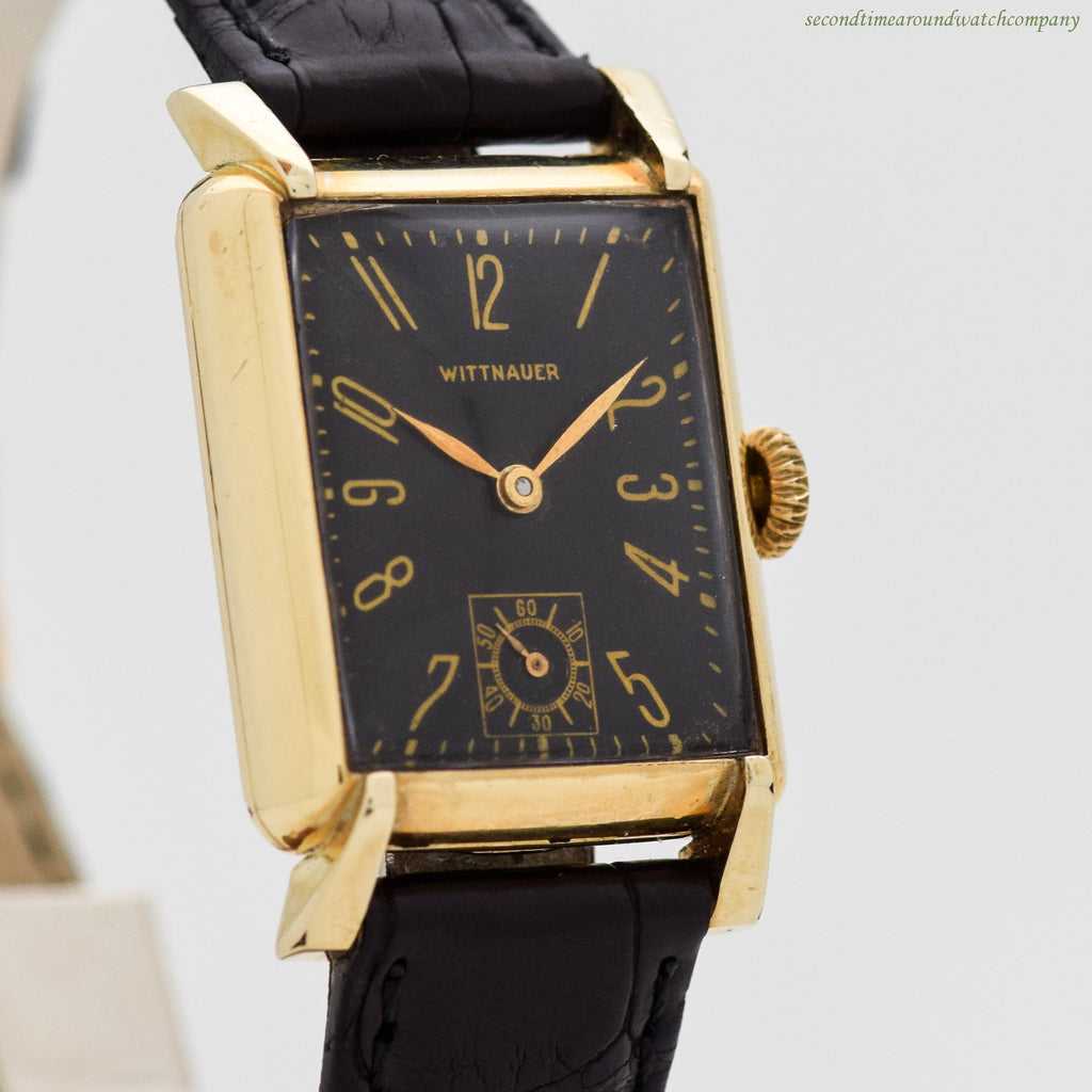 1940's era Wittnauer Rectangular-shaped 10k Yellow Gold Filled Watch