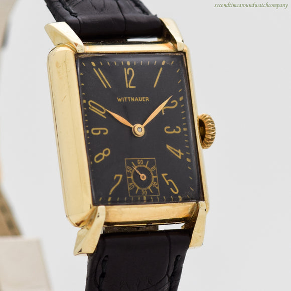 1940's era Wittnauer Rectangular-shaped 10k Yellow Gold Filled Watch (# 12321)