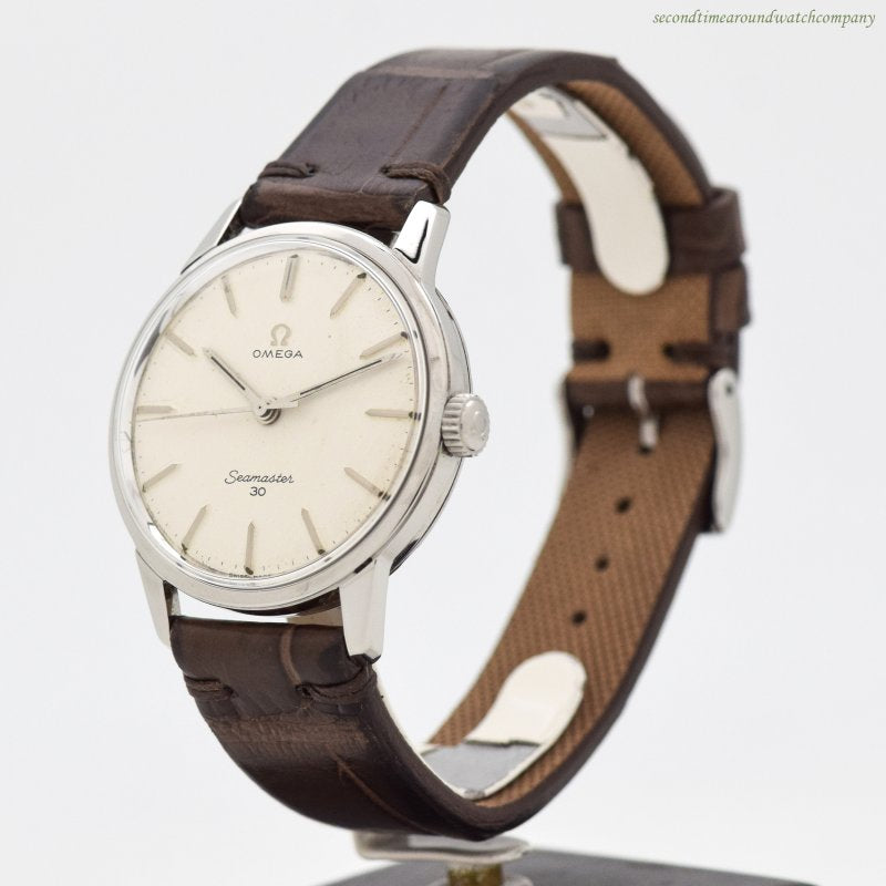 1963 Vintage Omega Seamaster 30 Reference 135.007-63 Stainless Steel Watch