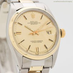 A. Men's Vintage  Rolex Datejust 14k Yellow Gold & Stainless Steel