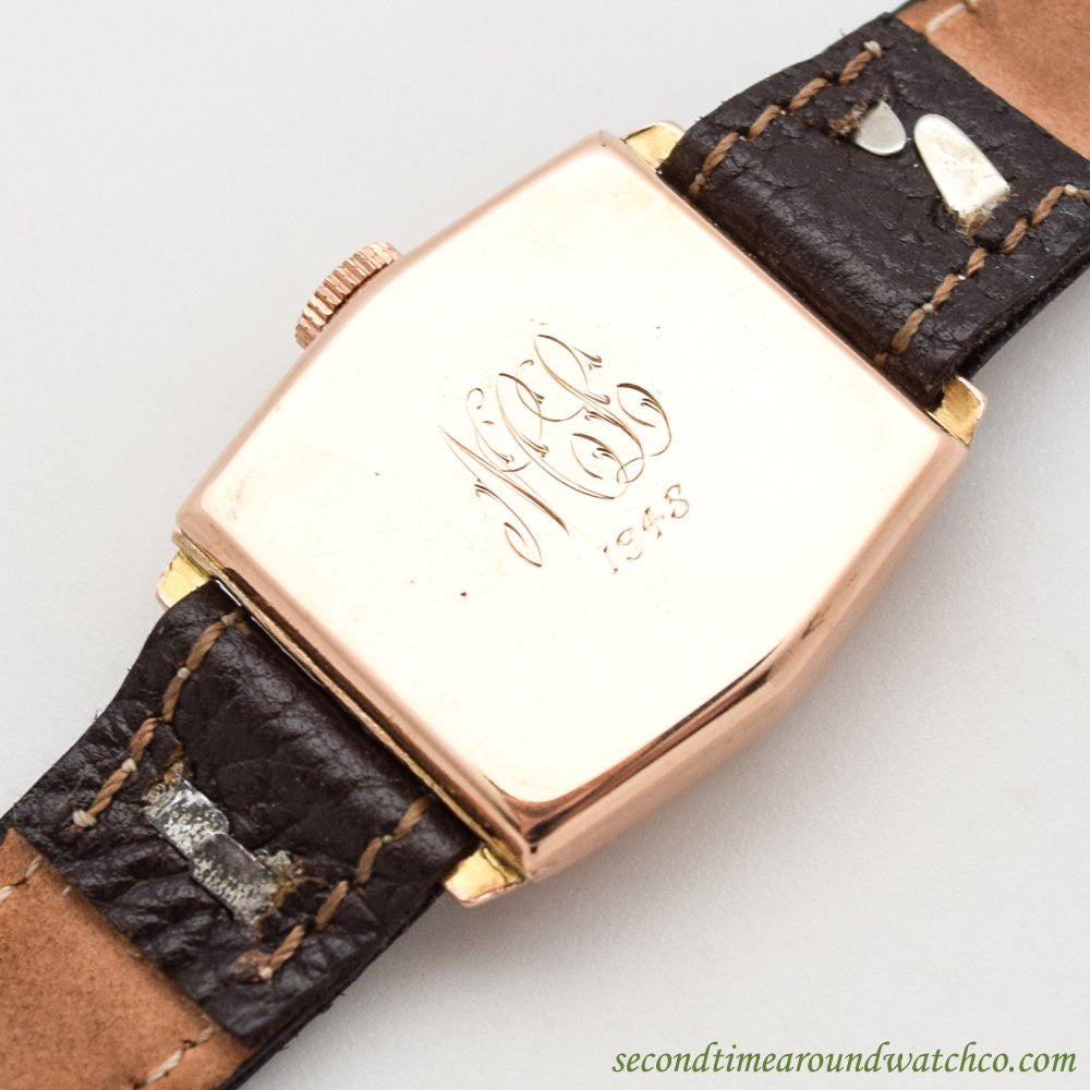 1920's Vintage Rolex 9k Rose Gold Watch