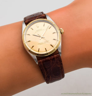 1967 Vintage Rolex Oyster Perpetual Ref. 1003 14k Yellow Gold & Stainless Steel Watch