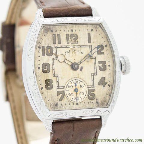 1928 Vintage Illinois Spartan Nickle Watch