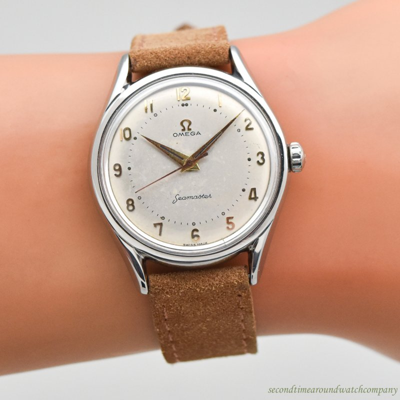 1957 Vintage Omega Seamaster Reference 2792-5-SC Stainless Steel Watch