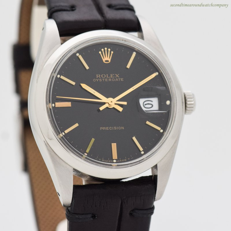 1972 Vintage Rolex Oysterdate Precision Reference 6694 Stainless Steel Watch