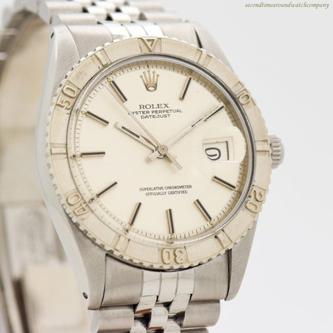 1974 Vintage Rolex Thunderbird Datejust Reference 1625 14k White Gold & Stainless Steel Watch