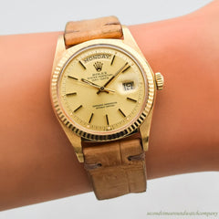 1977 Vintage Rolex Day-Date President Ref. 1803 18k Yellow Gold Watch