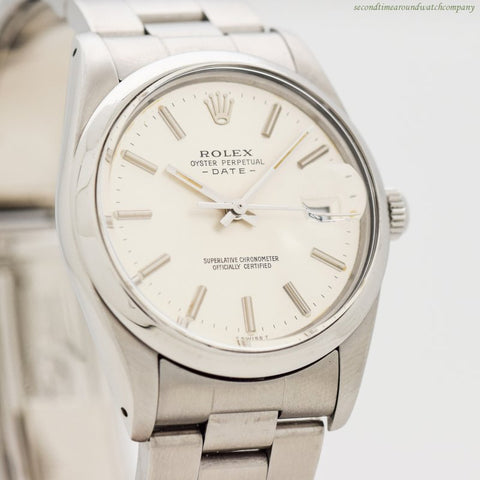 1984 Vintage Rolex Date Automatic Reference 15000 Stainless Steel Watch
