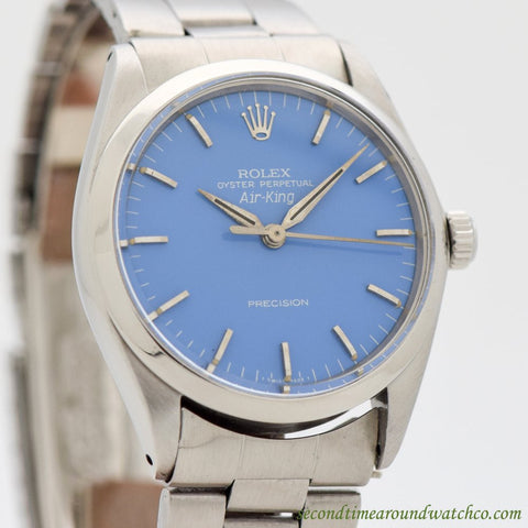 1964 Vintage Rolex Air-King Ref. 5500 Stainless Steel Watch