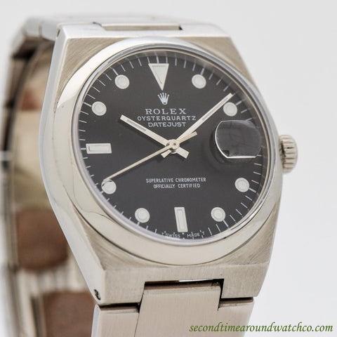 1980's Vintage Rolex Oysterquartz Datejust Ref. 17000 Stainless Steel Watch