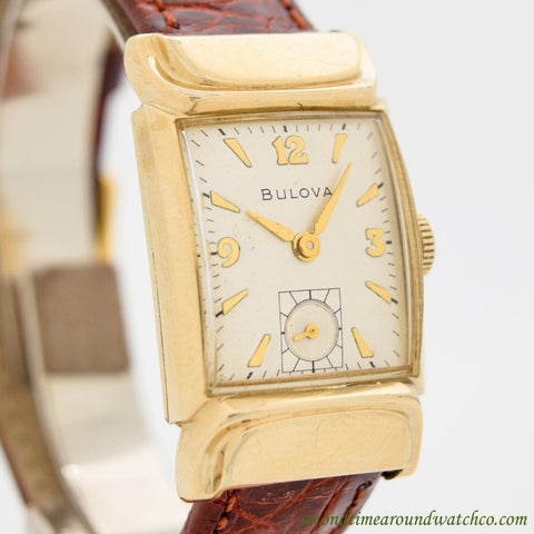 1940's Vintage Bulova Beau Brummel 10k Yellow Gold Filled Watch
