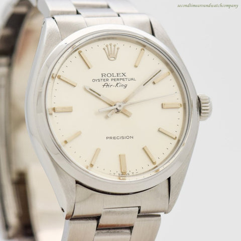 1979 Vintage Rolex Air-King Reference 5500 Stainless Steel Watch