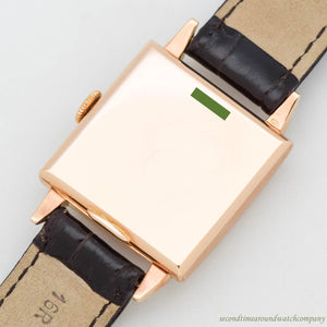 1940's Vintage Zenith Square-shape 18K Rose Gold Watch