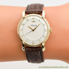 1950's Vintage Jaeger Le Coultre Power Reserve 10k Yellow Gold Filled Watch