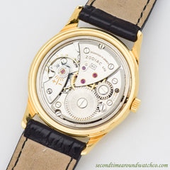 1960's Vintage Zodiac Hermetic 18k Yellow Gold Plated Watch