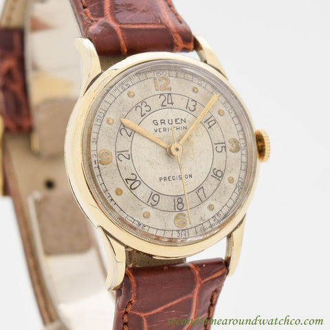 1940's Vintage Gruen Ver-thin Precision 10k Yellow Gold Filled Watch