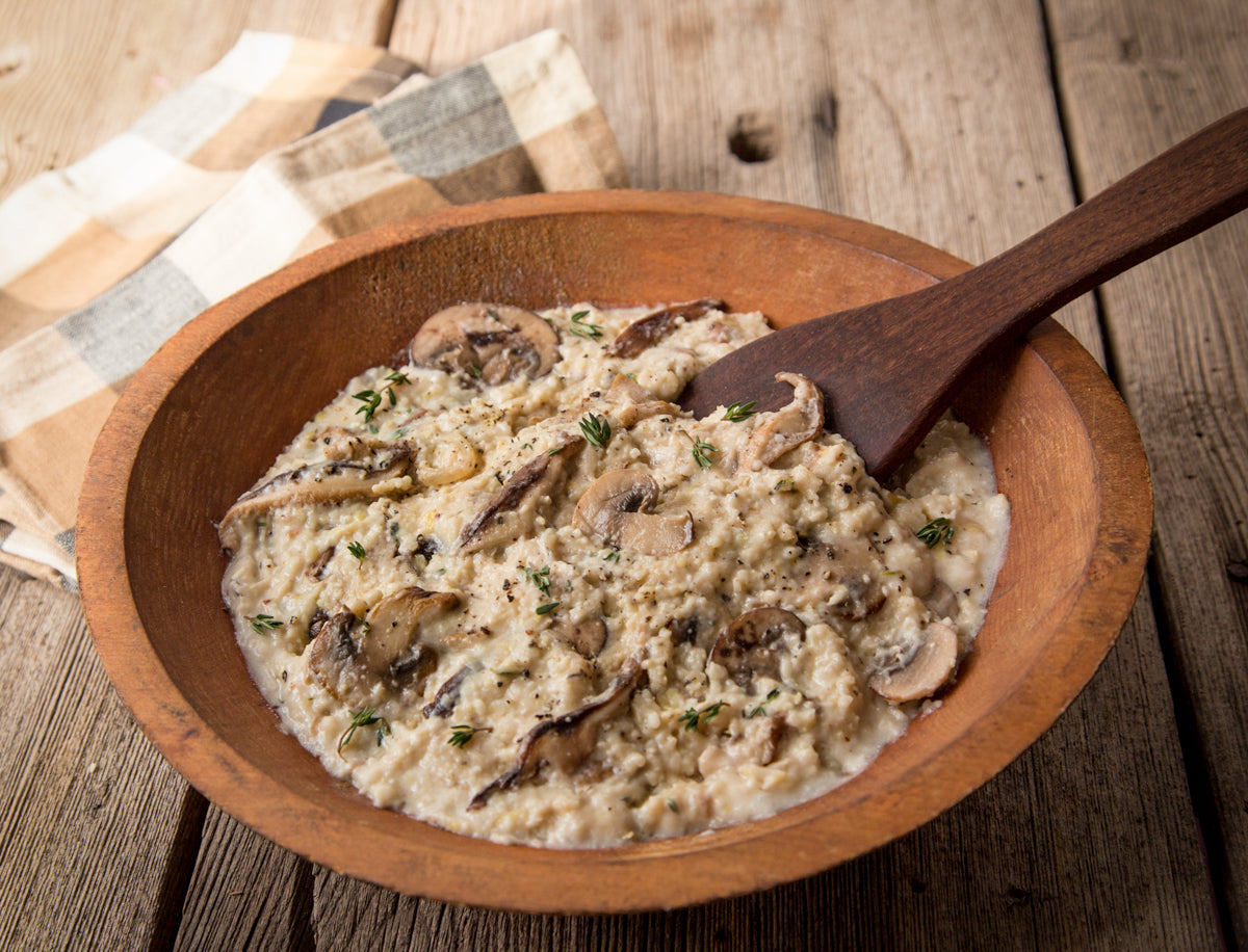 gruyere-grits-with-wild-mushrooms