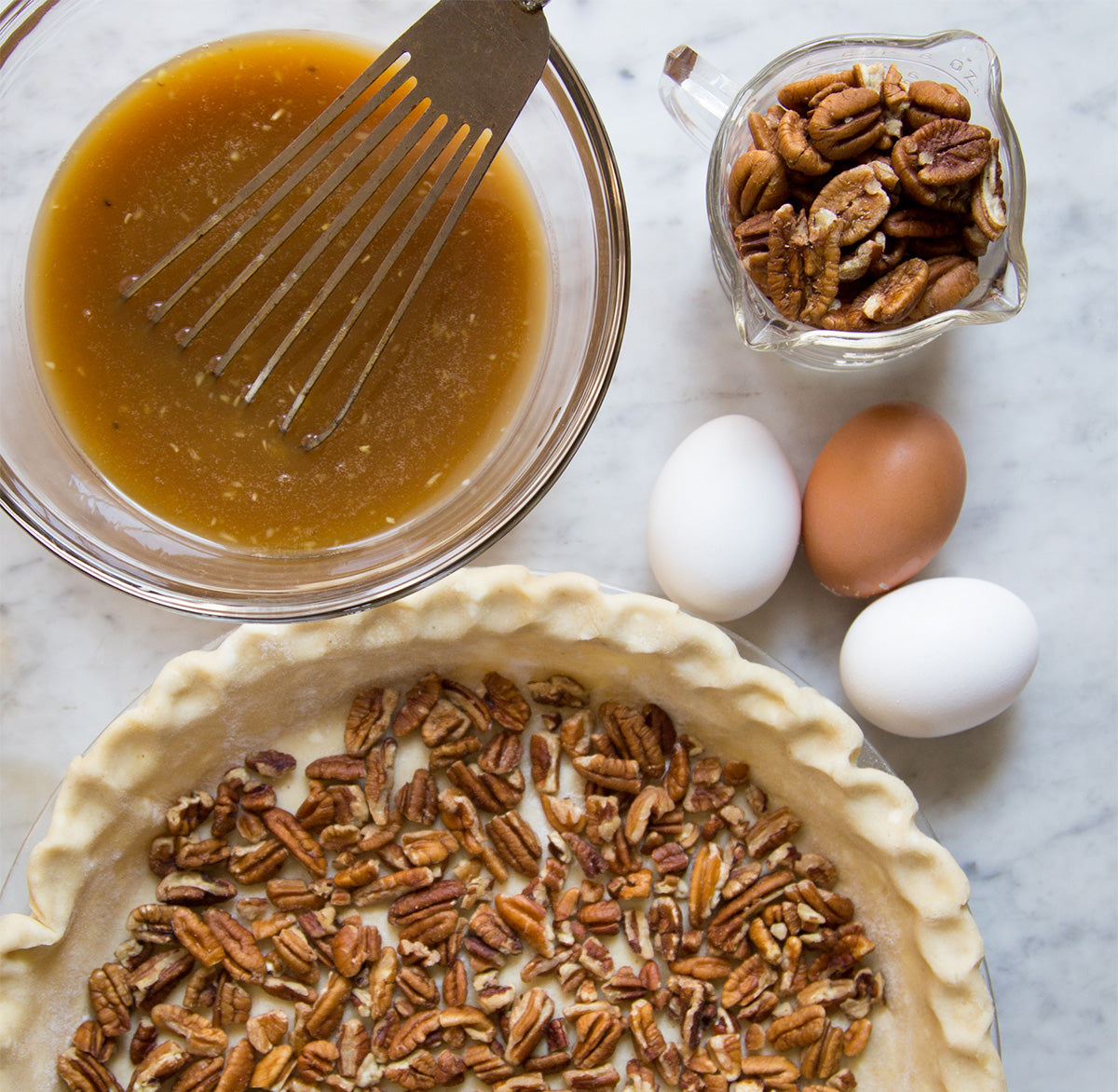 stone-ground heirloom-grits-pecan-pie-ingredients
