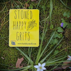 Stoned Happy Grits! Decal