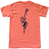 Men's Comfort Tee - Orange/Navy