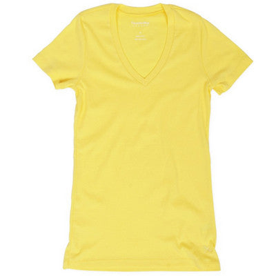 V-neck Tee - Lemon