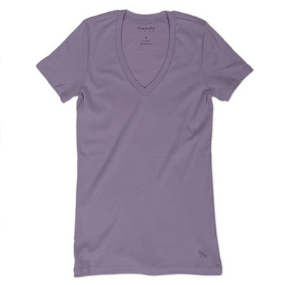 V-neck Tee - Orchid