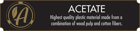 Highest quality plastic available made from a combination of wood pulp and cotton fibers.