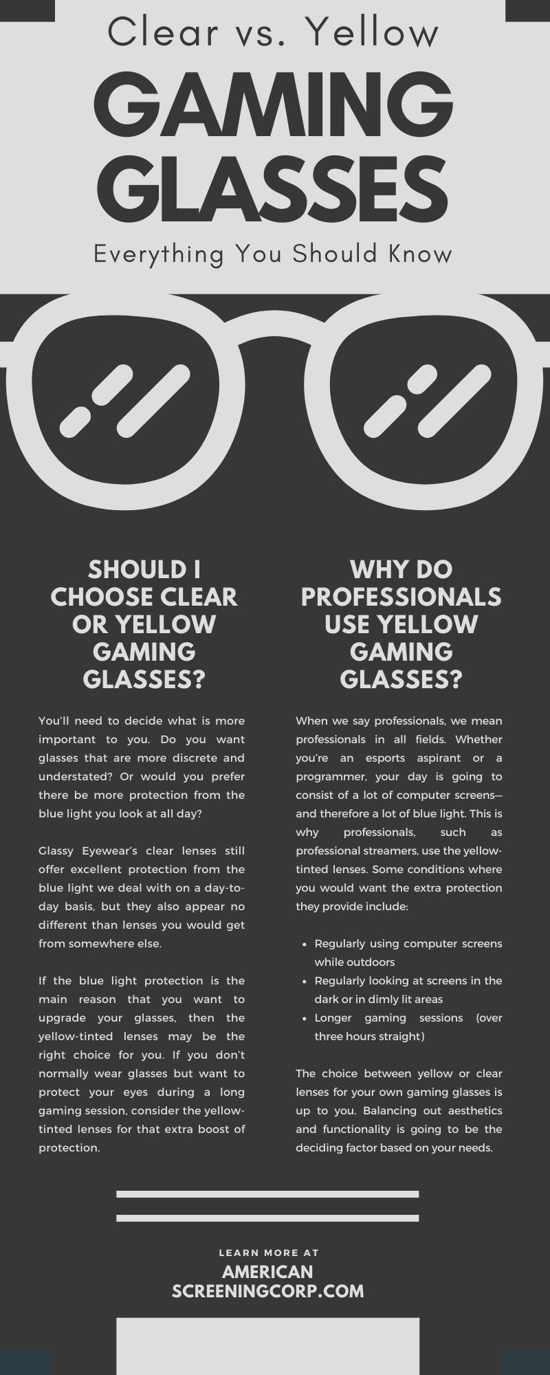 Clear vs. Yellow Gaming Glasses: Everything You Should Know