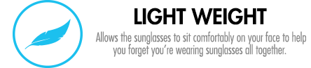 Allows the sunglasses to sit comfortably on your face to help you forget you're wearing sunglasses all together.