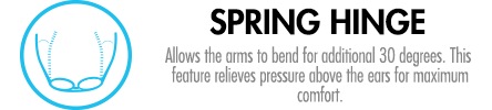 Allows the arms to bend an additional 30 degrees for maximum comfort.