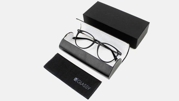 Bennett Prescription Black Glasses with Box and Bag