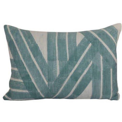 Stripe Sky Cushion, Aqua  - 14x20 inch