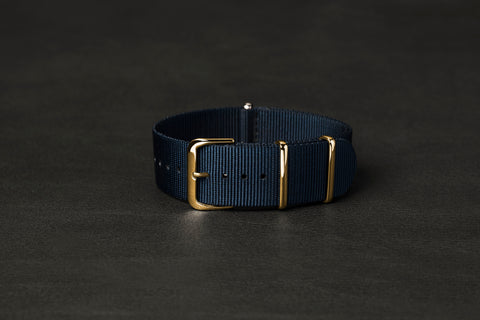 NATO Strap Navy Yellow