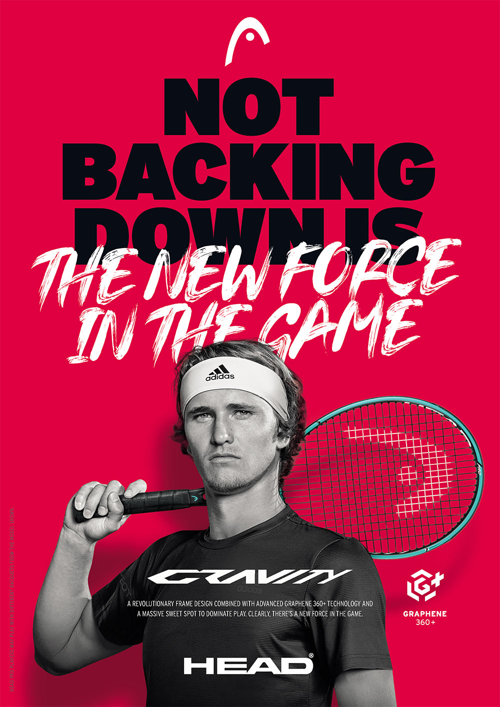 Head Gravity Tennis Racquets: Not backing down is the new force in the game! A revolutionary frame design combined with advanced Graphene 360+ technology and a massive sweet spot to dominate play. Clearly, there's a new force in the game!