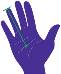 Grip size palm measurements for tennis racquets