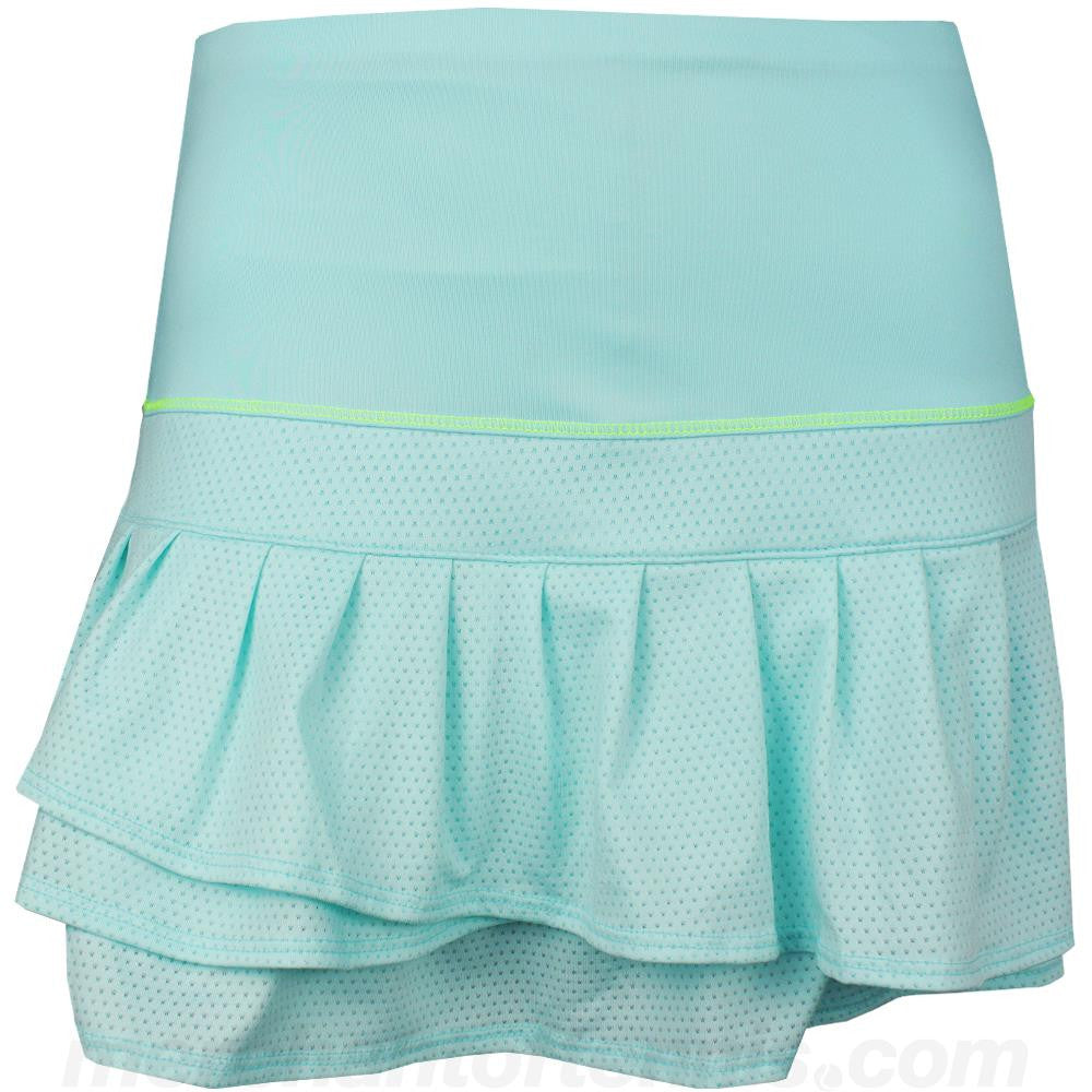 Lucky In Love Women's 2016 Retro Wave Long Pleated Tier SkortSeafoam