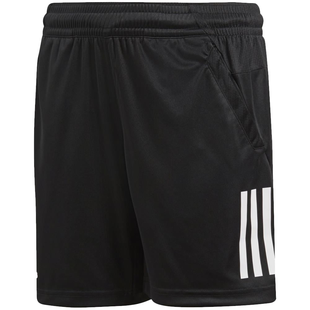 adidas Boys Club 3 Stripe Shorts - BlackBlack