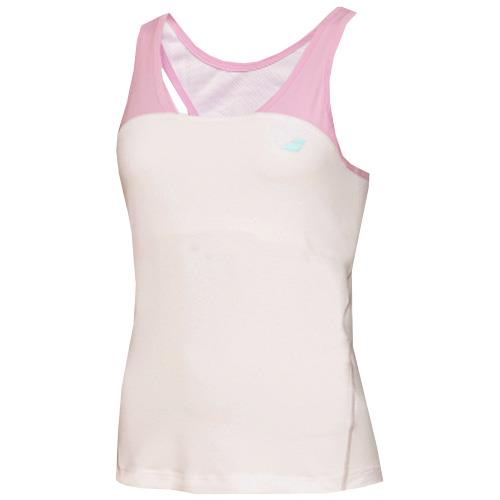 Babolat Women's Performance Racer-back TankWhite/Pink