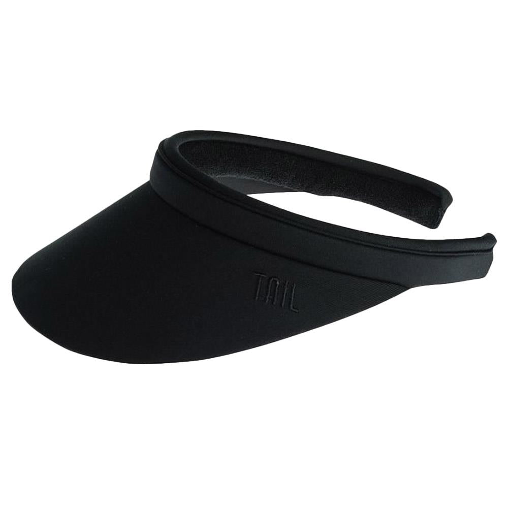Tail Women's Samantha Solid Visor - BlackBlack