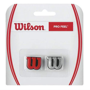 Wilson Pro Feel Dampener 2 Pack Red/Silver