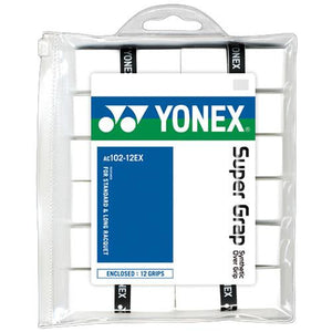 Yonex Super Grap 12 Pack Overgrips White