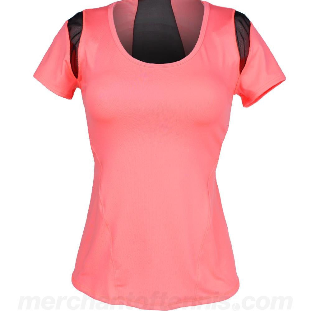 Lucky in Love Women's Off the Grid Scoop Neck Cap Sleeve Top
