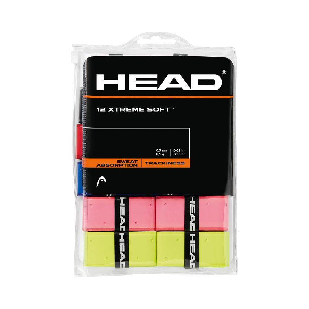 HEAD XTREME Soft Overgrips 12 Pack Assorted