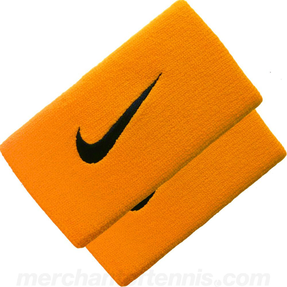 Nike DriFit Doublewide Wristbands 2.0 Laser Orange