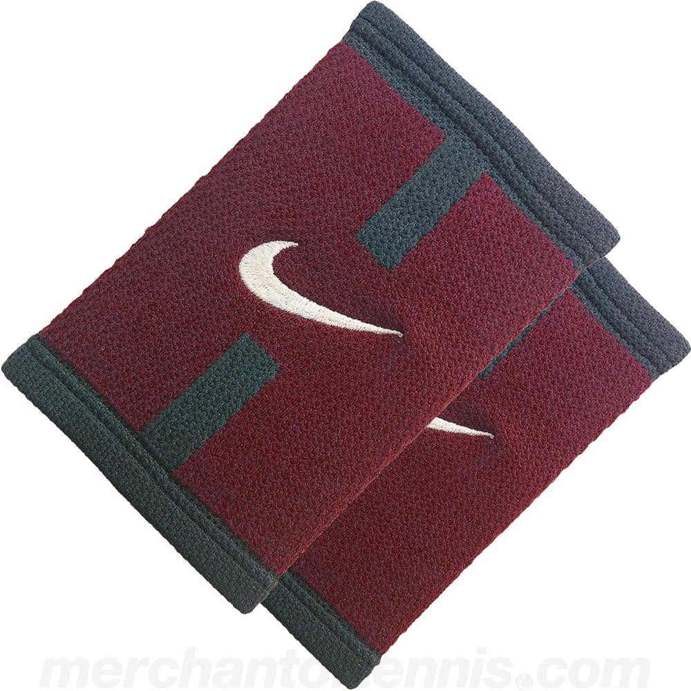 Nike DriFit Court Logo Doublewide Wristbands Marroon