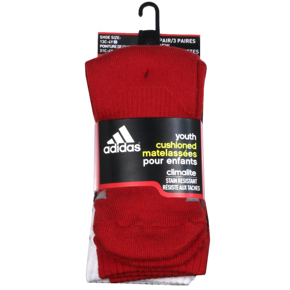 adidas Youth Cushion Crew 3 Pack