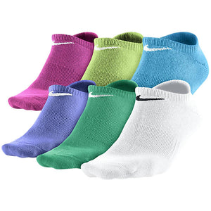 Nike Youth No Show Socks 6 Pack - Assorted